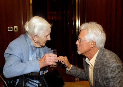 David with 'Australia's greatest Philanthropist' Dame Edith Murdoch AC